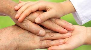 pohlazení rukou