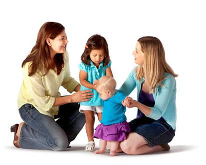 spokojené matky s dětmi